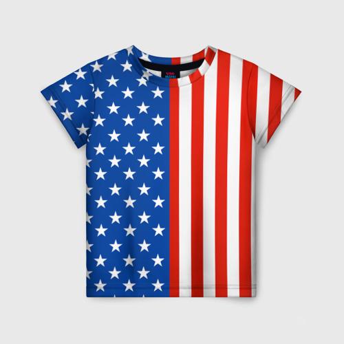Детская футболка 3D Американский Флаг
