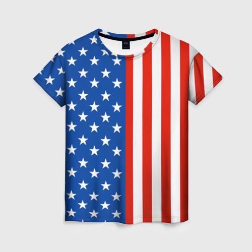 Женская футболка 3D Американский Флаг