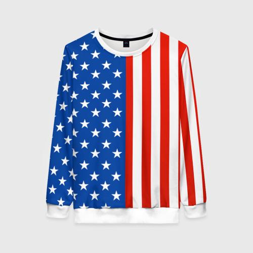 Женский свитшот 3D Американский Флаг