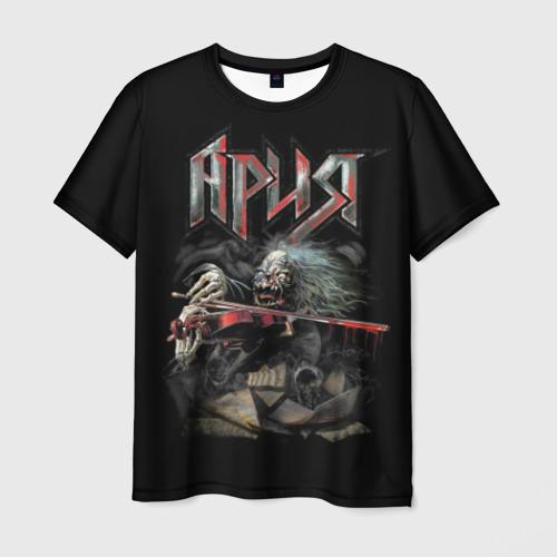 Мужская футболка 3D Мертвый скрипач
