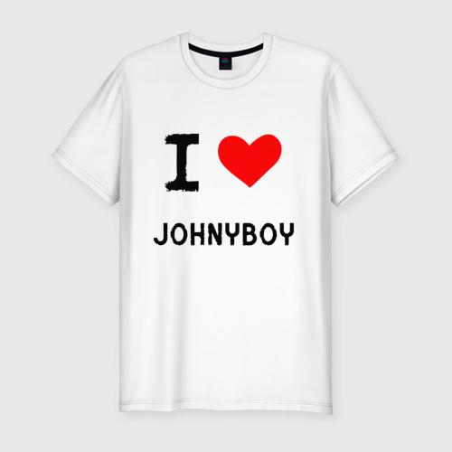 Мужская футболка хлопок Slim  Johnyboy 8