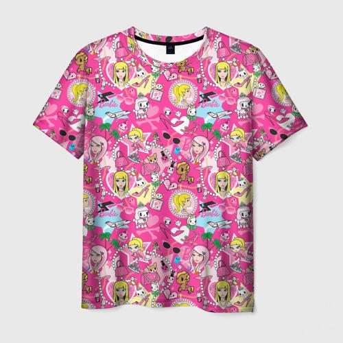 Мужская футболка 3D Barbie and Tokidoki