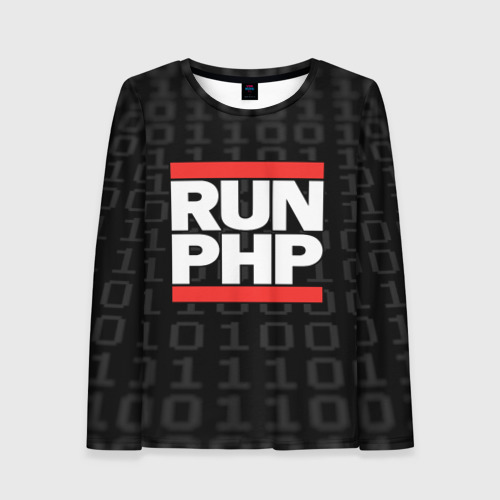 Женский лонгслив 3D Run PHP