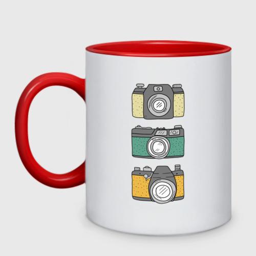 Кружка двухцветная Фотограф