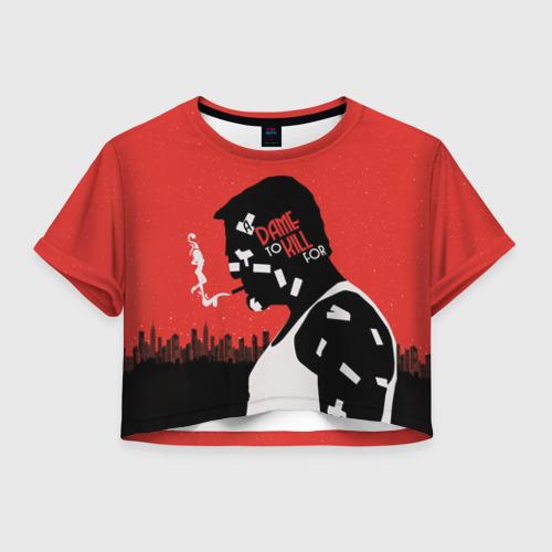 Женская футболка Crop-top 3D Город грехов