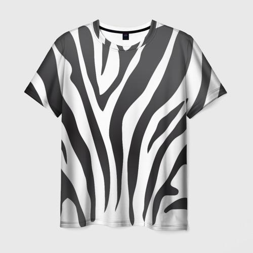 Мужская футболка 3D Зебра принт