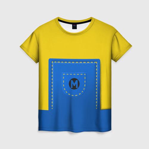 Женская футболка 3D Костюм миньона