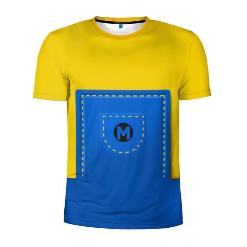 Мужская футболка 3D спортивная Костюм миньона