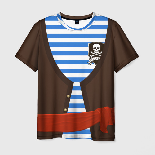 Мужская футболка 3D Костюм пирата