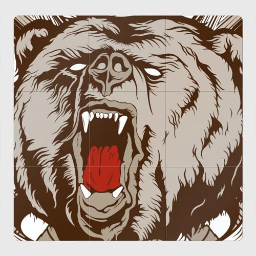 """Магнитный плакат 3Х3 Футболка \""""Русский медведь\"""""""
