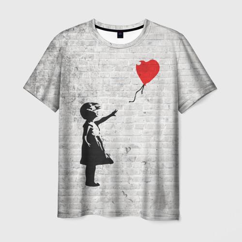 Мужская футболка 3D Бэнкси: Девочка с Шаром