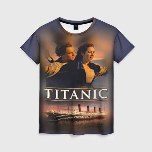 Женская футболка 3D Титаник Джек и Роза