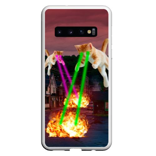 Чехол для Samsung Galaxy S10 Кошачья Атака!