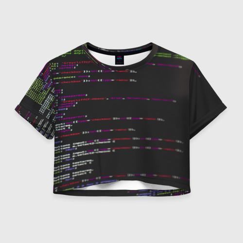 Женская футболка Crop-top 3D Программный код
