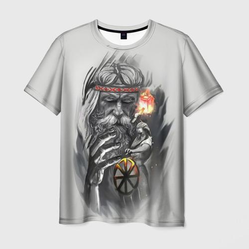Мужская футболка 3D Сварог