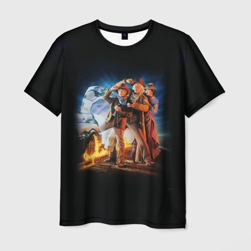 Мужская футболка 3D Back to the future (classic)