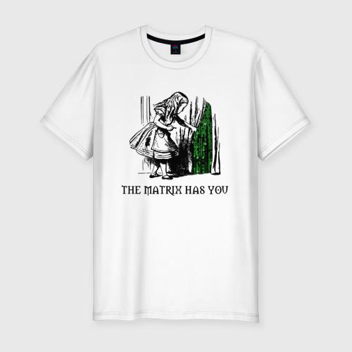 Мужская футболка хлопок Slim Matrix Alice