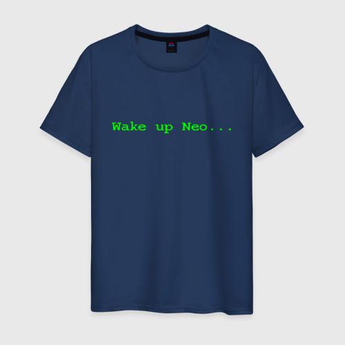 Мужская футболка хлопок Wake up Neo...