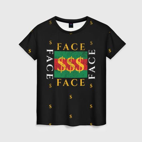 Женская футболка 3D FACE GG Style