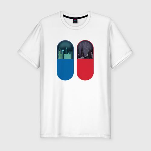 Мужская футболка хлопок Slim Матрица Таблетки