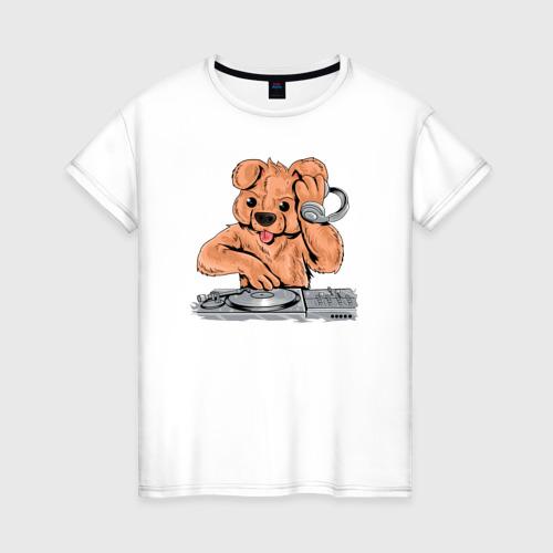 Женская футболка хлопок DJ Медведь