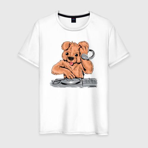 Мужская футболка хлопок DJ Медведь