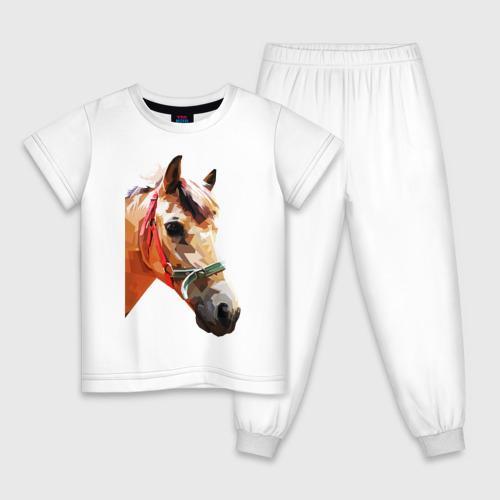 Детская пижама хлопок Лошадь