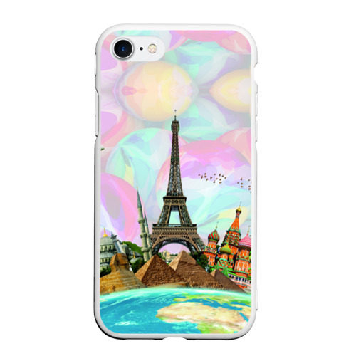 Чехол для iPhone 7/8 матовый Туризм