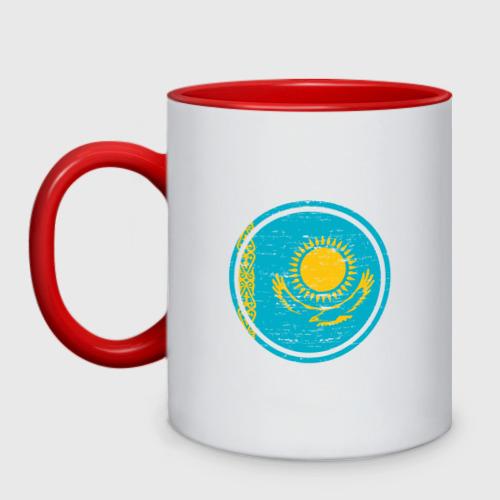 Кружка двухцветная Казахстан