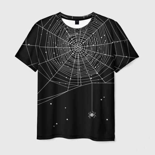 Мужская футболка 3D Паутина