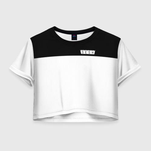 Женская футболка Crop-top 3D DEAD SESH (НА СПИНЕ)