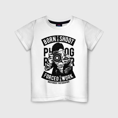 Детская футболка хлопок born to shoot