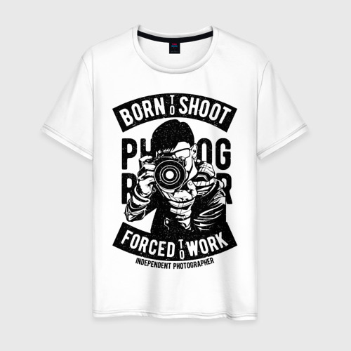 Мужская футболка хлопок born to shoot