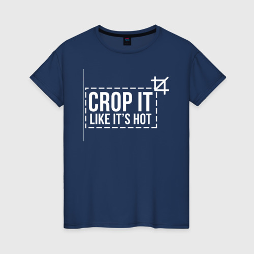 Женская футболка хлопок crop it like it's hot