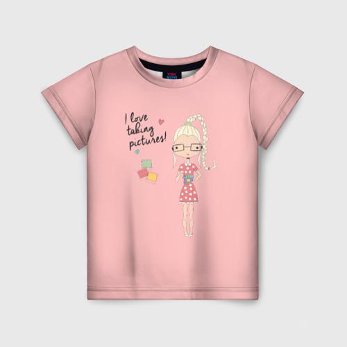 Детская футболка 3D i love taking pictures