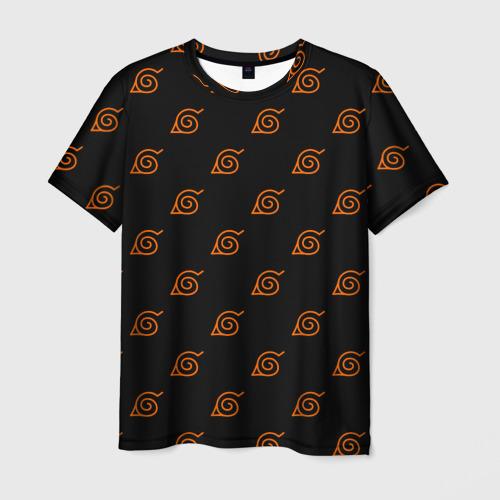Мужская футболка 3D Знак скрытого листа (Naruto) 2