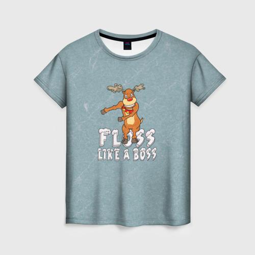 Женская футболка 3D Рождественский Floss