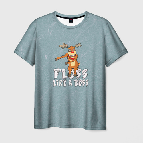 Мужская футболка 3D Рождественский Floss