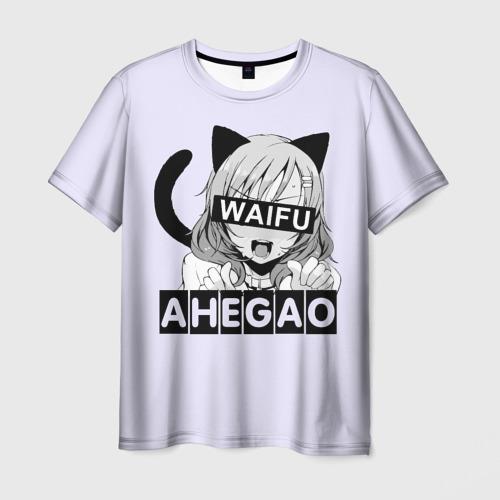 Мужская футболка 3D Ahegao Waifu