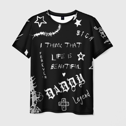 Мужская футболка 3D Life is beautiful