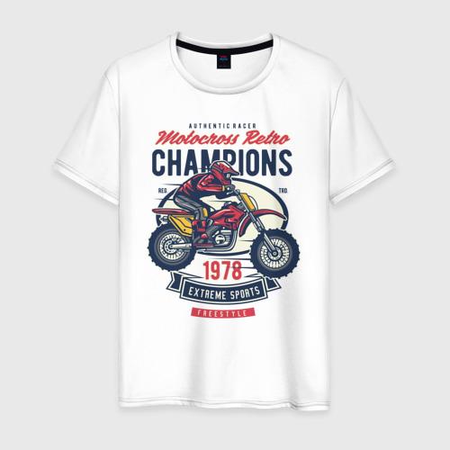 Мужская футболка хлопок Мотоцикл