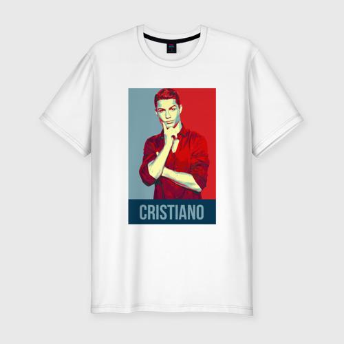 Мужская футболка хлопок Slim Cristiano