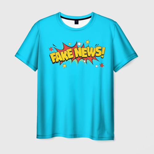 Мужская футболка 3D Fake news