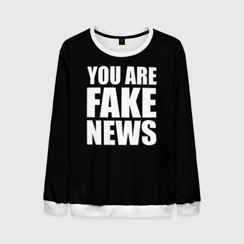 Мужской свитшот 3D You are FAKE NEWS