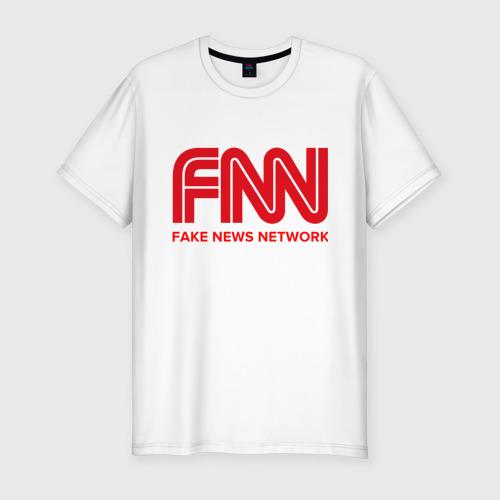 Мужская футболка хлопок Slim FAKE NEWS NETWORK