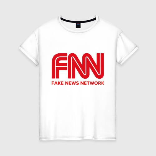 Женская футболка хлопок FAKE NEWS NETWORK