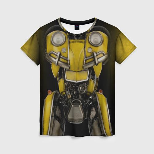 Женская футболка 3D Костюм Бамблби
