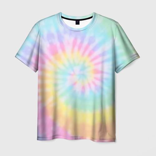 Мужская футболка 3D Pastel Tie Dye
