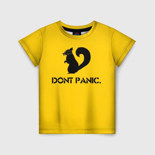 Детская футболка 3D Dont Panic.