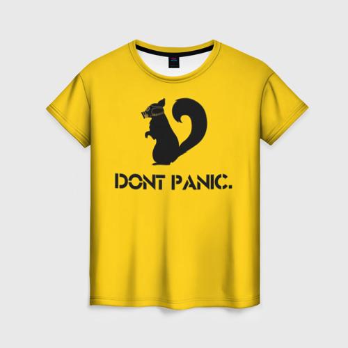 Женская футболка 3D Dont Panic.
